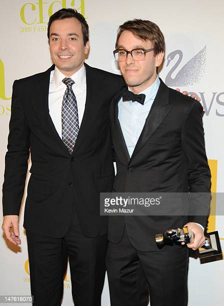 Jimmy Fallon and Scott Sternberg attends the 2009 CFDA Fashion Awards at Alice Tully Hall, Lincoln Center on June 15, 2009 in New York City.