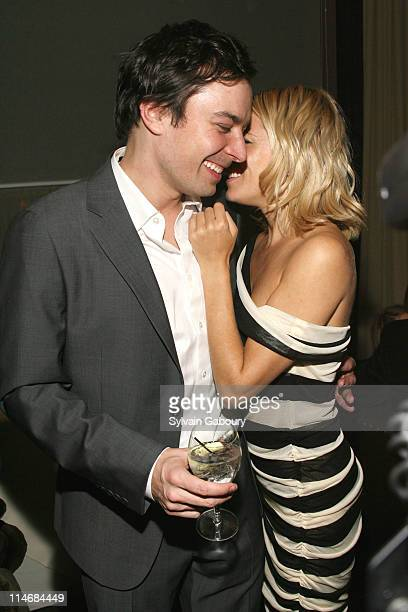Jimmy Fallon and Sienna Miller during The Cinema Society and Calvin Klein Host a Screening of 'Factory Girl' After Party at Gramercy Park Hotel at 2...