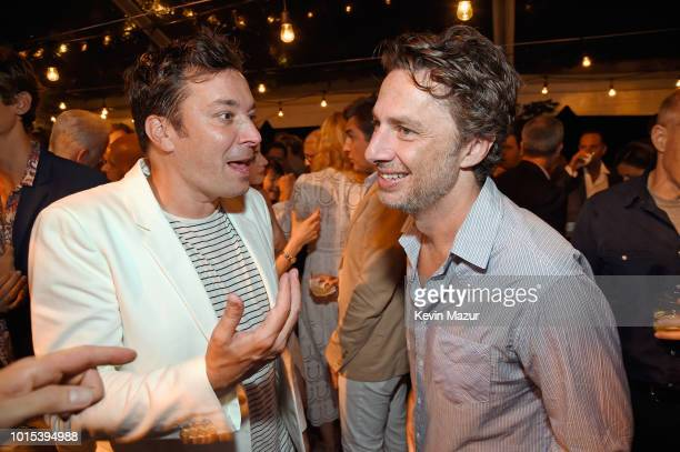 Jimmy Fallon and Zach Braff attend Apollo in the Hamptons 2018 Hosted by Ronald O Perelman at The Creeks on August 11 2018 in East Hampton New York