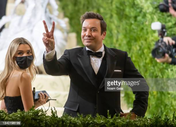 Jimmy Fallon attends the 2021 Met Gala celebrating 'In America: A Lexicon of Fashion' at The Metropolitan Museum of Art on September 13, 2021 in New...