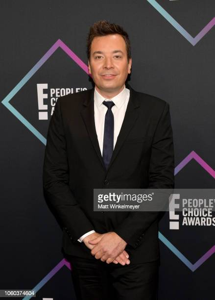 Jimmy Fallon attends the People's Choice Awards 2018 at Barker Hangar on November 11 2018 in Santa Monica California