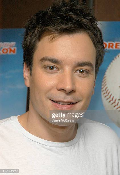 """Jimmy Fallon during Jimmy Fallon Donates """"Fever Pitch"""" Memorabilia to National Baseball Hall of Fame at ESPN Zone, Times Square in New York City, New..."""