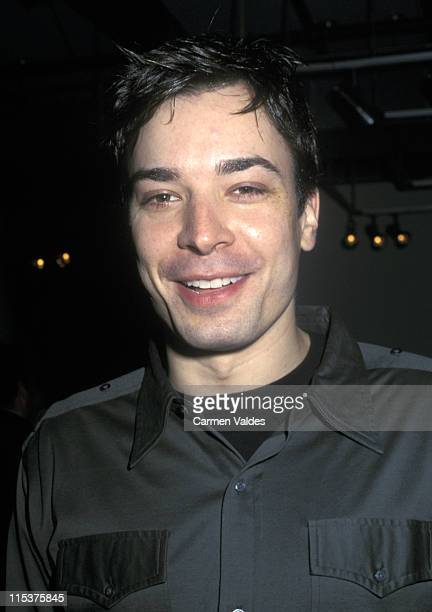 Jimmy Fallon during Kenneth Cole 2002 Fashion Show at Kenneth Cole Store in New York City New York United States