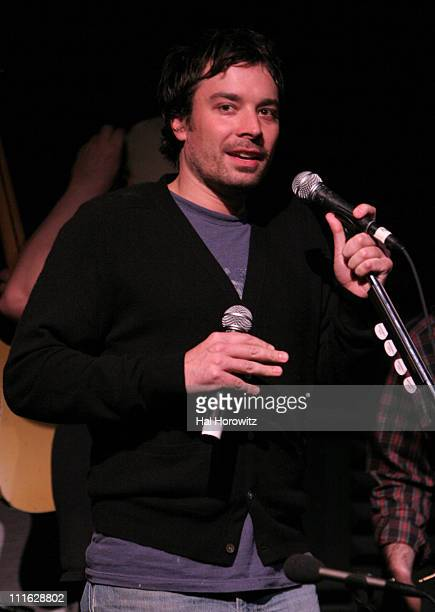 Jimmy Fallon during Pete Townshend of The Who and Rachel Fuller Hold Attic Jam Show at Joe's Pub February 20 2007 at Joe's Pub in New York City New...