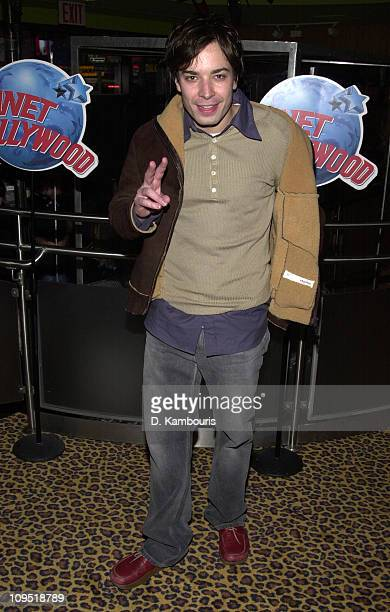 Jimmy Fallon during Super Bowl XXXVI Britney Spears Justin Timberlake Host Super Bowl Fundraiser at Planet Hollywood Times Square at Planet Hollywood...