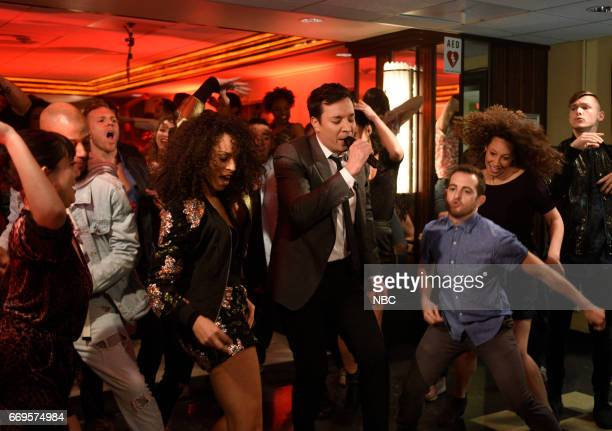 LIVE 'Jimmy Fallon' Episode 1722 Pictured host Jimmy Fallon during the 'Let's Dance Monologue' on April 15 2017