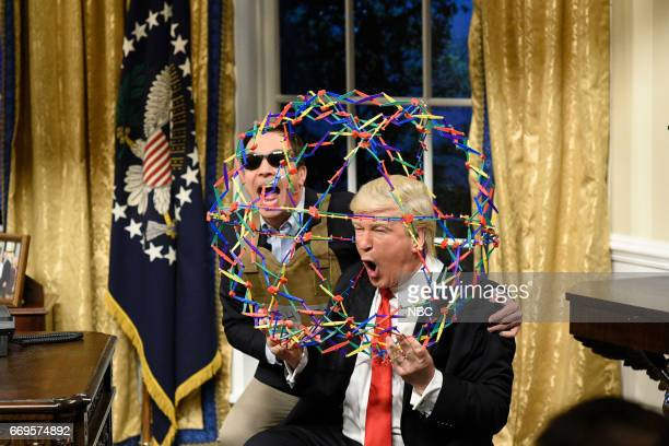 LIVE Jimmy Fallon Episode 1722 Pictured Jimmy Fallon as Jared Kushner and Alec Baldwin as President Donald Trump during the Trump Cold Open sketch on...