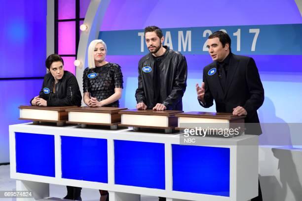 LIVE Jimmy Fallon Episode 1722 Pictured Kate McKinnon as Kristen Stewart Melissa Villaseñor as Gwen Stefani Pete Davidson as David Blaine Jimmy...