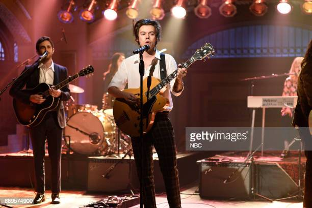 LIVE 'Jimmy Fallon' Episode 1722 Pictured Musical guest Harry Styles performs 'Ever Since New York' on April 15 2017