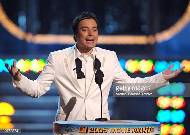 Jimmy Fallon host during 2005 MTV Movie Awards Show at Shrine Auditorium in Los Angeles California United States