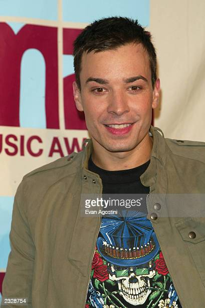 Jimmy Fallon in the Press Room at the 2002 MTV Video Music Awards at Radio City Music Hall in New York City August 29 2002 Photo by Evan...