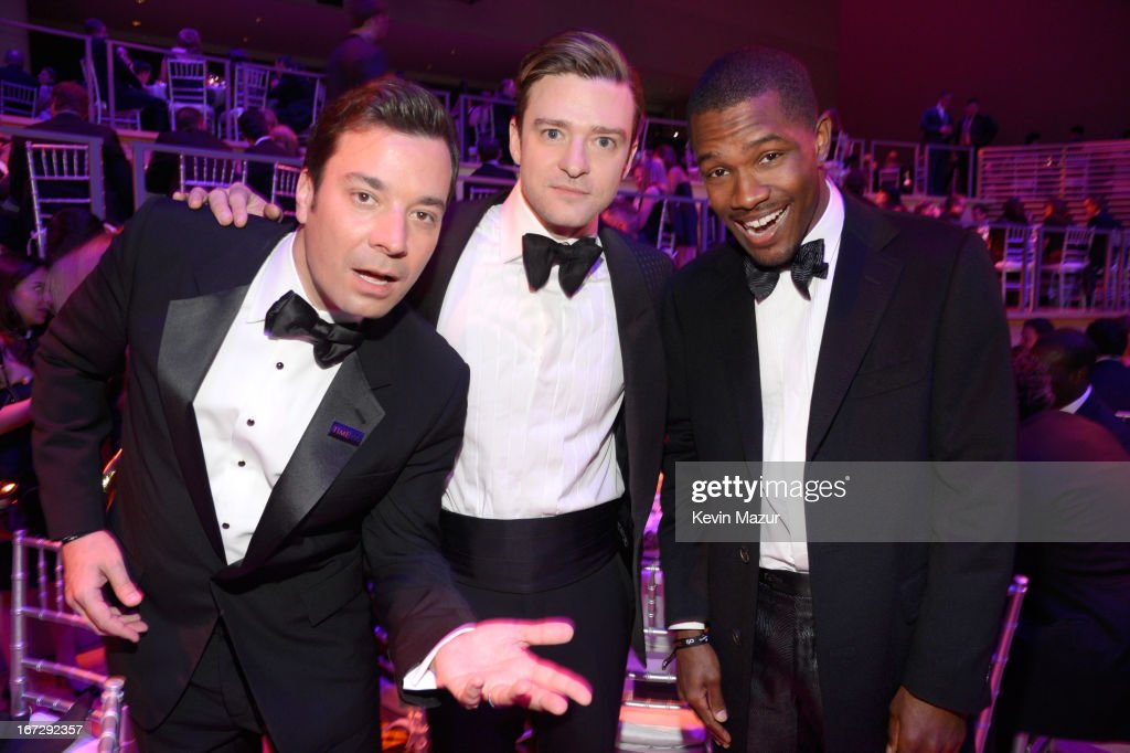 Jimmy Fallon, Justin Timberlake and Frank Ocean attend TIME 100 Gala, TIME'S 100 Most Influential People In The World at Jazz at Lincoln Center on April 23, 2013 in New York City.