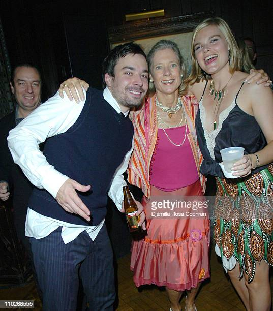 Jimmy Fallon, Kitsie Converse and Kate Schelter during Jimmy Fallon's Birthday Party - September 24, 2005 at The National Arts Club in New York City,...