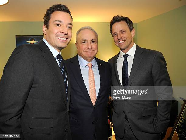 Jimmy Fallon Lorne Michaels and Seth Meyers attend Howard Stern's Birthday Bash presented by SiriusXM produced by Howard Stern Productions at...