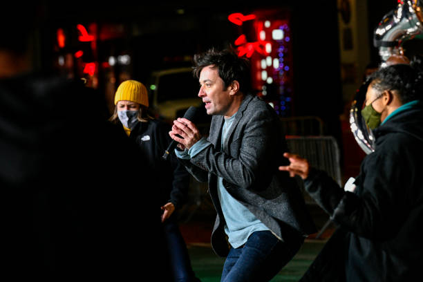 NY: Celebrity And Performance Groups Rehearse At Herald Square In Preparation For The 94th Annual Macy's Thanksgiving Day Parade®