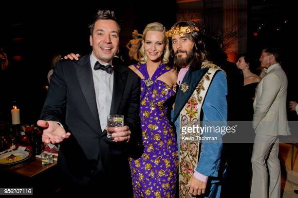 Jimmy Fallon, Poppy Delevingne, and Jared Leto attend the Heavenly Bodies: Fashion & The Catholic Imagination Costume Institute Gala at The...