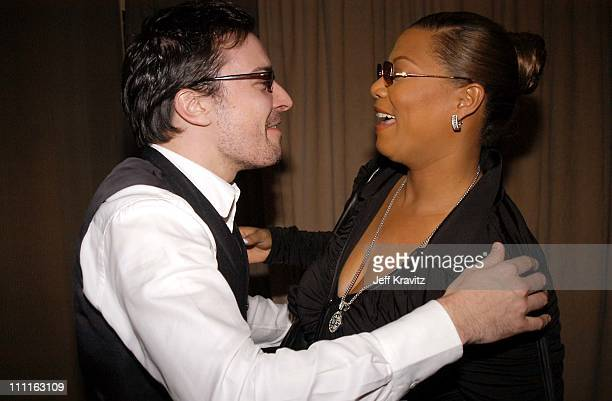 Jimmy Fallon Queen Latifah during Miramax Max Awards at St Regis Hotel in Los Angeles CA United States