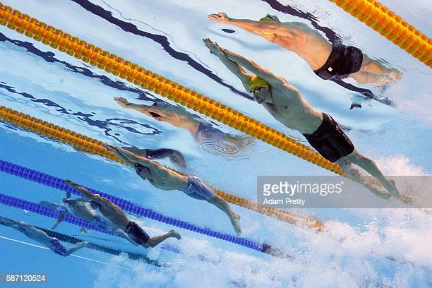Jimmy Feigen of the United States, Odyssefs Meladinis of Greece, Marcelo Chierighini of Brazil, Clement Mignon of France and James Magnussen of...