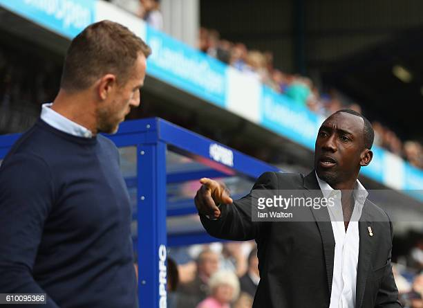 Jimmy Floyd Hasselbaink manager of QPR looks on during the Sky Bet Championship match between Queens Park Rangers and Birmingham City at Loftus Road...