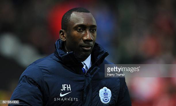Jimmy Floyd Hasselbaink Manager of Queens Park Rangers during the Sky Bet Championship match between Bristol City and Queens Park Rangers at Ashton...