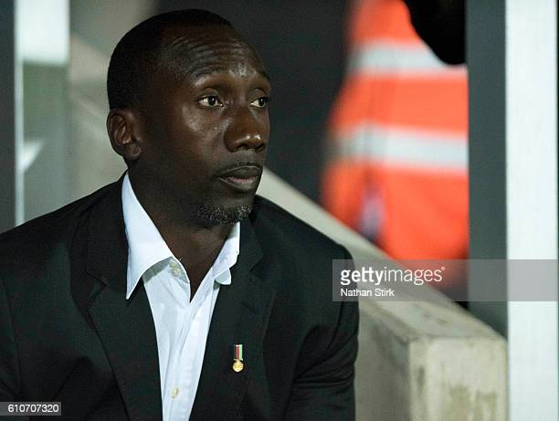 Jimmy Floyd Hasselbaink manager of Queens Park Rangers looks on during the Sky Bet Championship match between Burton Albion and Queens Park Rangers...