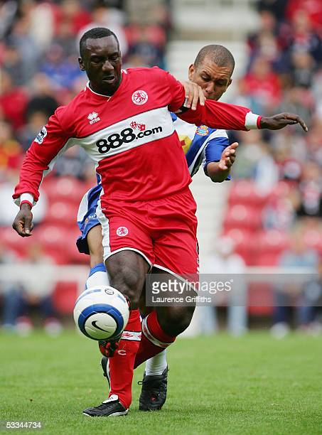 Jimmy Floyd Hasselbaink of Middlesbrough during the pre season friendly match between Middlesbrough and RCD Espanyol at The Riverside Stadium on...