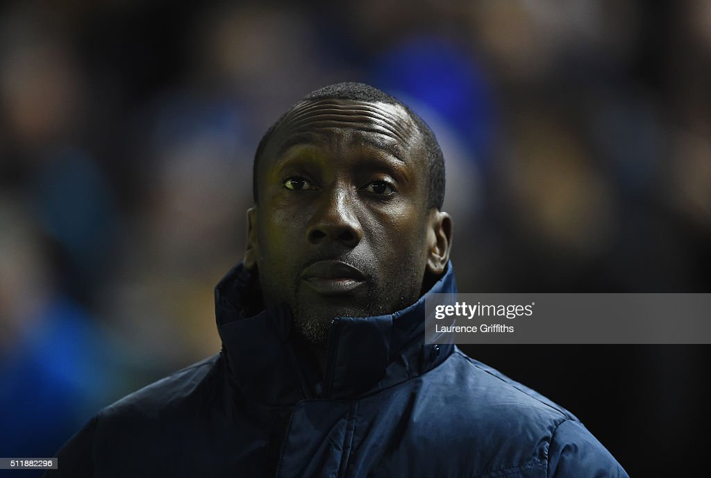 Jimmy Floyd Hasselbaink of Queens Park Rangers looks on during the Sky Bet Championship match between Sheffield Wednesday and Queens Park Rangers at Hillsborough on February 23, 2016 in Sheffield, United Kingdom.