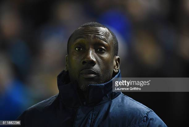 Jimmy Floyd Hasselbaink of Queens Park Rangers looks on during the Sky Bet Championship match between Sheffield Wednesday and Queens Park Rangers at...