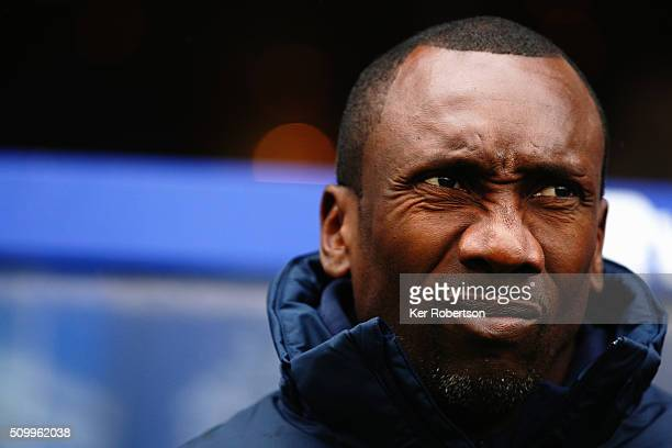 Jimmy Floyd Hasselbaink the Queens Park Rangers manager looks on before the Sky Bet Championship match between Queens Park Rangers and Fulham at...