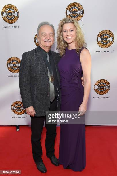 Jimmy Fortune and Nina Fortune attend the 2018 Country Music Hall of Fame and Museum Medallion Ceremony honoring inductees Johnny Gimble Ricky Skaggs...