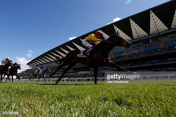 Jimmy Fortune riding Agent Murphy win The Carey Group Buckhounds Stakes at Ascot racecourse on May 09 2015 in Ascot England