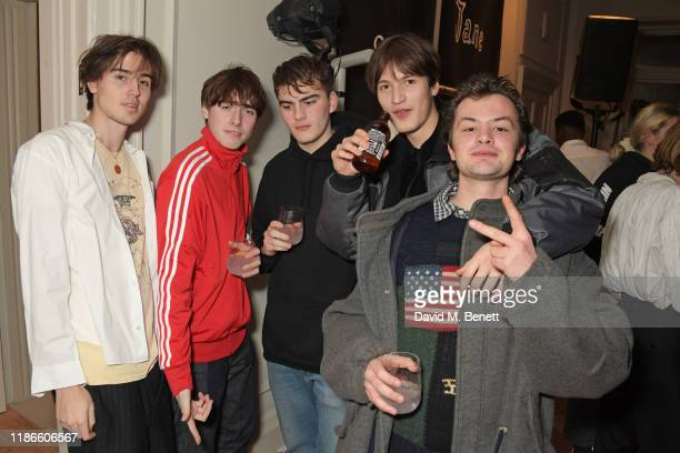 Jimmy Fox Gene Gallagher and Lucas Chancellor attend the MATCHESFASHION X Bella Freud Musical Matches event at 5 Carlos Place featuring a special...