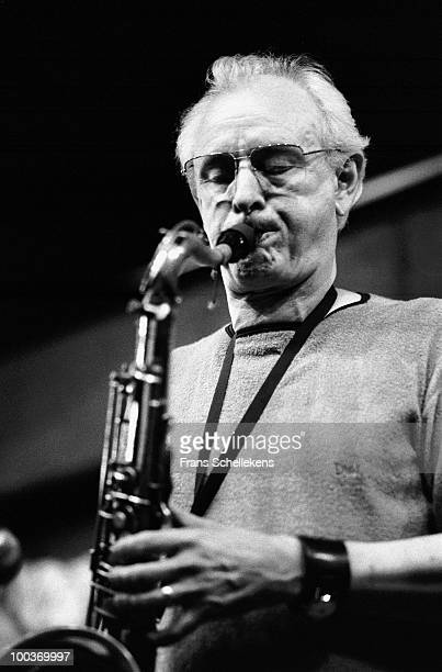 Jimmy Giuffre performs live on stage at Bimhuis in Amsterdam, Netherlands on July 27 1982