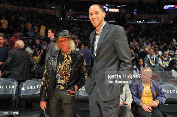Jimmy Goldstein and Tayshaun Prince attend a basketball game between the Los Angeles Lakers and the Memphis Grizzlies at Staples Center on December...