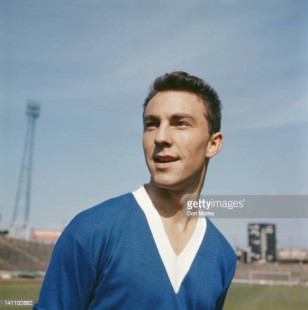 Jimmy Greaves of Chelsea FC poses for a portrait on 1st August 1957 at Stamford Bridge Stadium in London, Great Britain.