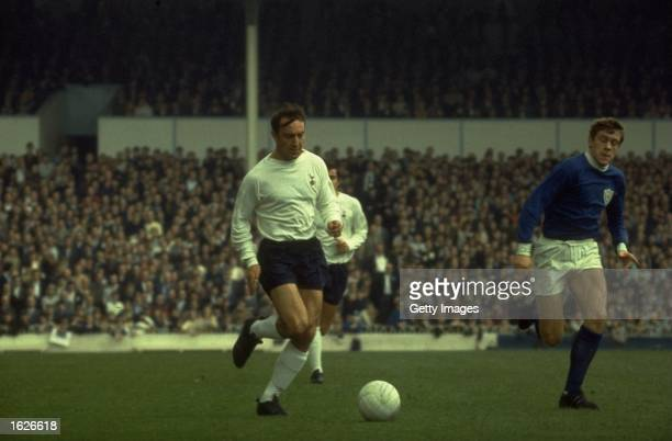 Jimmy Greaves of Tottenham Hotspur in action during a league match. \ Mandatory Credit: Allsport UK /Allsport
