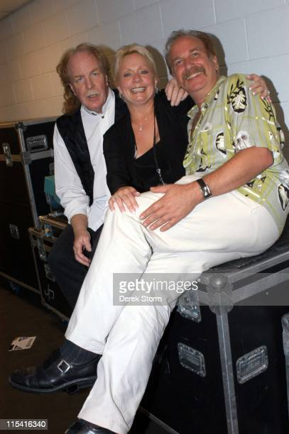 "Jimmy Greenspoon of Three Dog Night and wife Susie Greenspoon with Mark Bego, author of ""One is the Loneliest Number"""