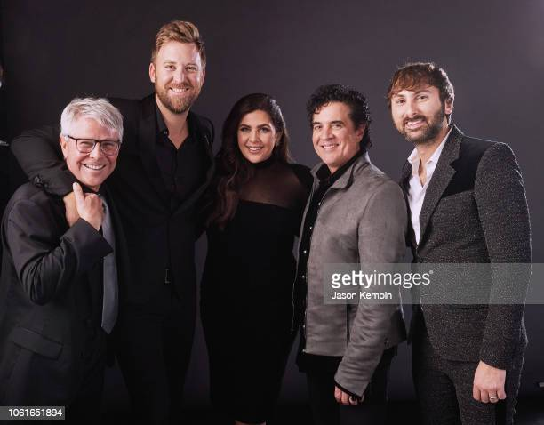 Jimmy Harnen Charles Kelley Hillary Scott Scott Borchetta and Dave Haywood attend Big Machine Label Group Celebrates the 52nd Annual CMA Awards in...