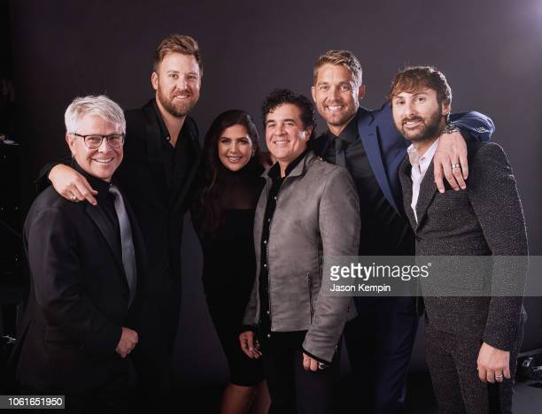 Jimmy Harnen Charles Kelley Hillary Scott Scott Borchetta Brett Young and Dave Haywood attend Big Machine Label Group Celebrates the 52nd Annual CMA...