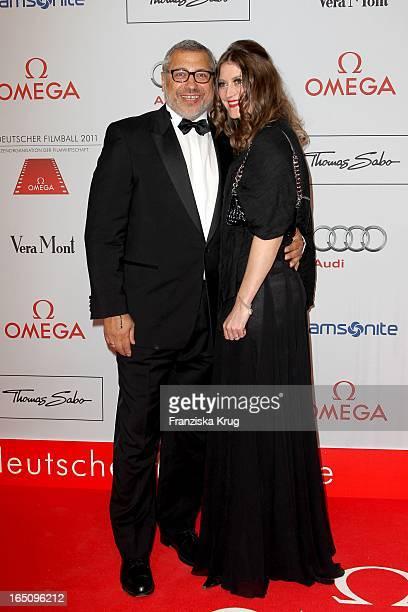 Jimmy Hartwig - Almer Und Ehefrau Stefanie Almer Beim 38. Deutschen Filmball Im Hotel Bayrischer Hof In München .