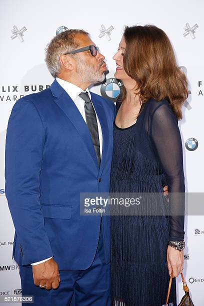 Jimmy Hartwig and his wife Stefanie Almer attend the Felix Burda Award 2016 on April 17, 2016 in Munich, Germany.