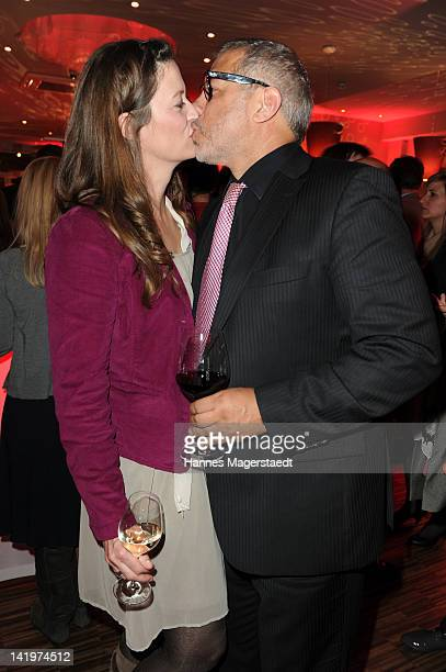 Jimmy Hartwig and his wife Stefanie attend the CNN Journalist Award 2012 at the GOP Variete Theater on March 27, 2012 in Munich, Germany.