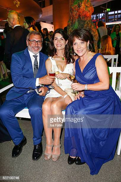 Jimmy Hartwig Nicola Tiggeler and Janina Hartwig attend the Felix Burda Award 2016 on April 17 2016 in Munich Germany