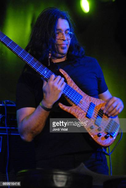 Jimmy Haslip of Allan Holdsworth band performs on stage during Festival de Guitarra at Sala Bikini on April 8 2006 in Barcelona Spain