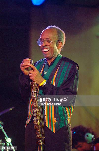 Jimmy Heath, saxophone, performs with the Heath Brothers at the North Sea Jazz Festival in Congresgebouw on July 14th 2002 in the Hague, Netherlands.