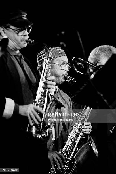 Jimmy Heath tenor saxophone and Phil WOODS alto saxophoneophone perform at JazzMecca on October 31st 1992 in Maastricht Netherlands