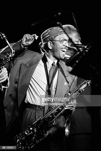 Jimmy Heath tenor saxophone performs at JazzMecca on October 31st 1992 in Maastricht Netherlands