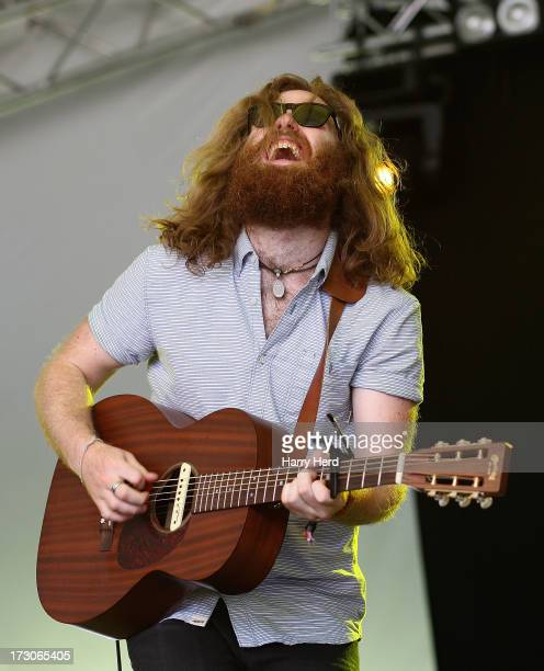 Jimmy Hunter of Hunter The Bear performs on stage on Day 2 of Cornbury Music Festival 2013 at Great Tew Estate on July 6 2013 in Oxford England