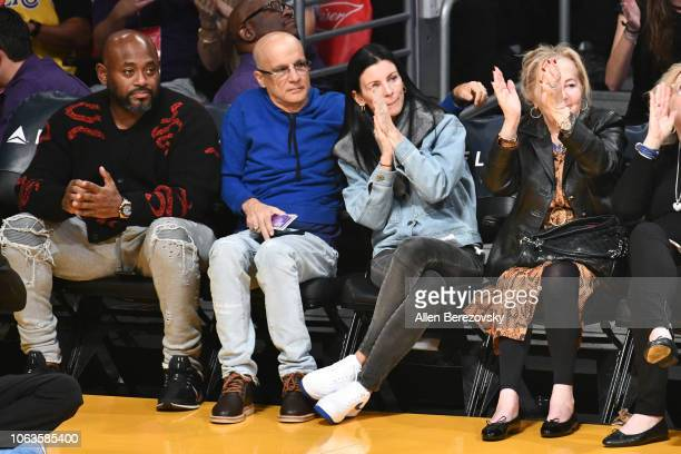 Jimmy Iovine and Liberty Ross attend a basketball game between the Los Angeles Lakers and the Toronto Raptors at Staples Center on November 04 2018...