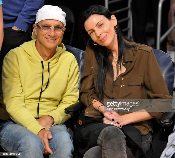 Jimmy Iovine and Liberty Ross attend a basketball game between the Los Angeles Lakers and the Atlanta Hawks at Staples Center on November 11 2018 in...